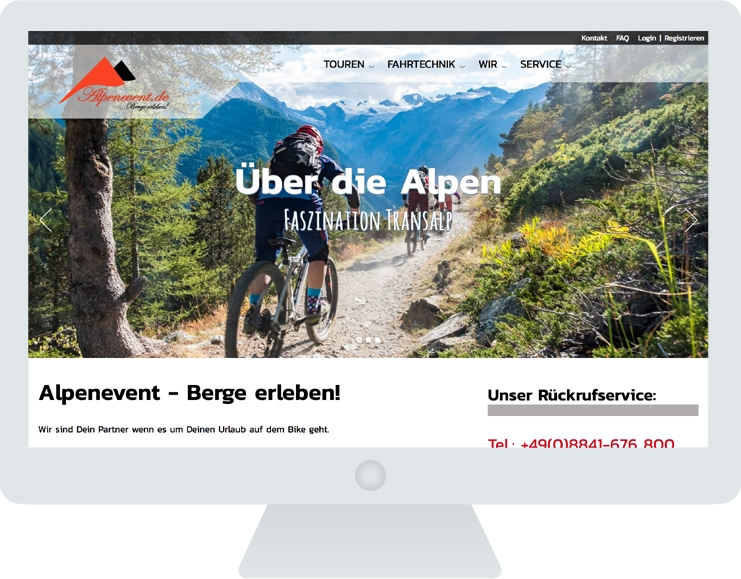 Alpenevent Screen groß