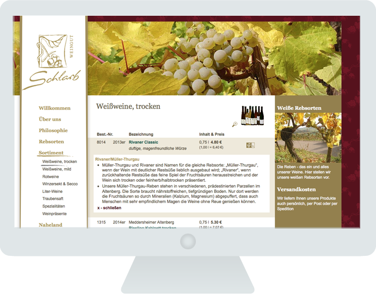 Screen groß Weingut Schlarb